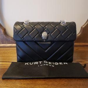 Kurt Geiger Kensington Quilted Leather - Black